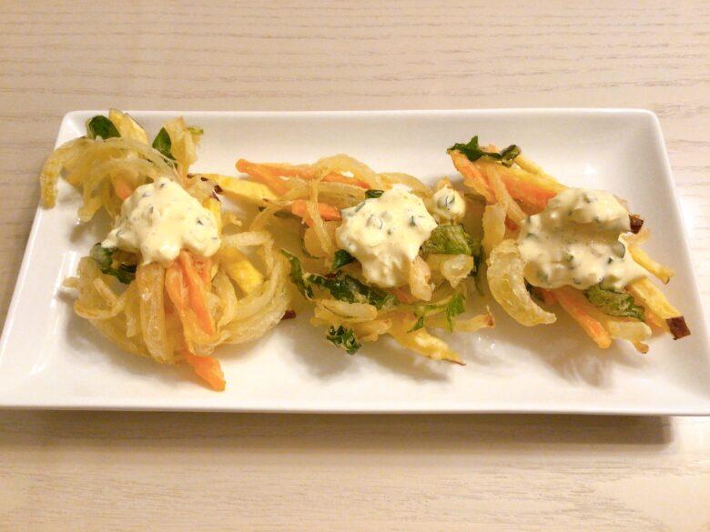 野菜のかき揚げ&タルタルソース